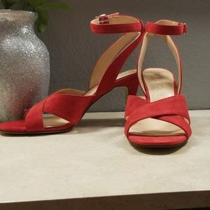Sole society crisscross straps elegant red heels